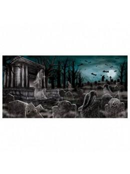 déco bannière cimetière hanté