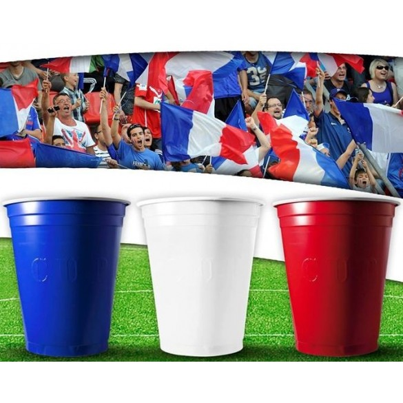 100 Gobelets Cup tricolores