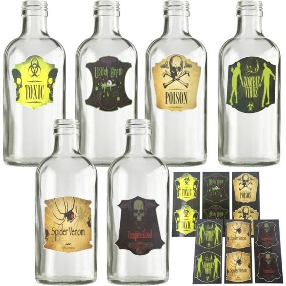 etiquette bouteilles Halloween