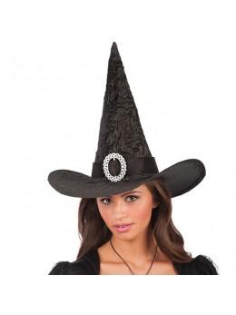 chapeau de sorcière velours noir
