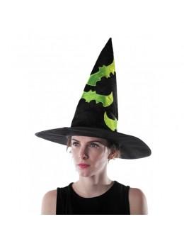 chapeau de sorcière motif fluo
