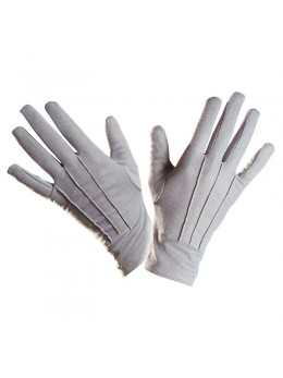 gants polyester adulte gris