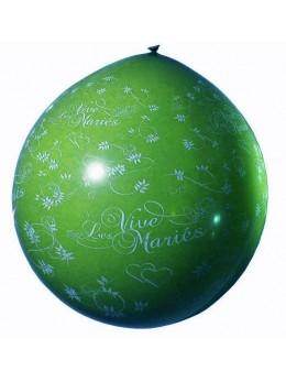 ballon géant vive les mariés vert