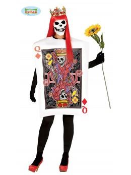 déguisement reine de coeur squelette