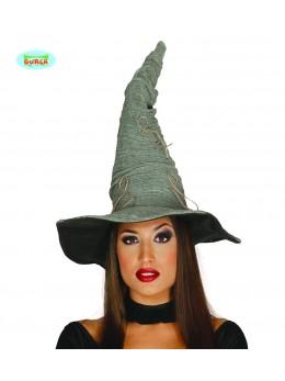 chapeau sorcière gris