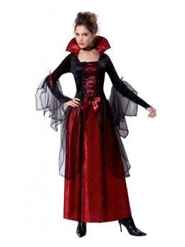 Déguisement vampiresse rouge