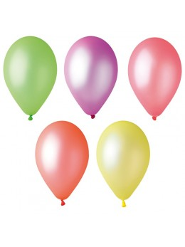 100 ballons Fluo 25cm
