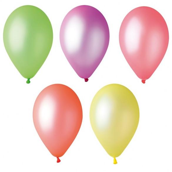 50 ballons Fluo 25cm
