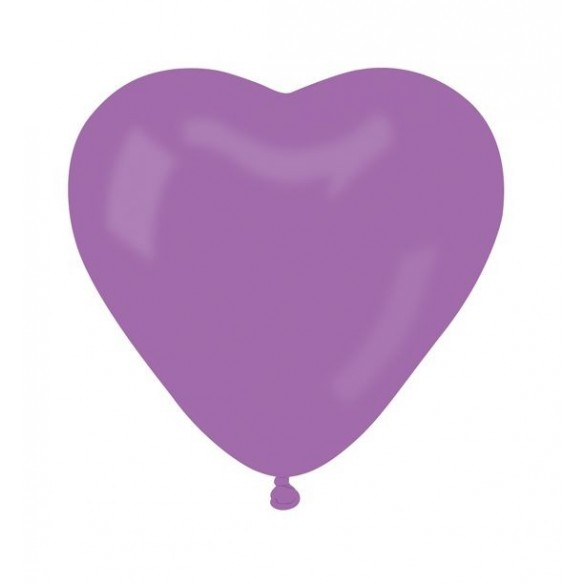 10 ballons coeur lavande