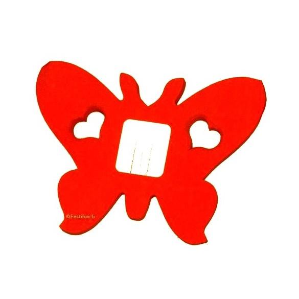 guirlande papillon rouge