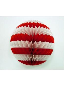 boule papier rouge et blanche
