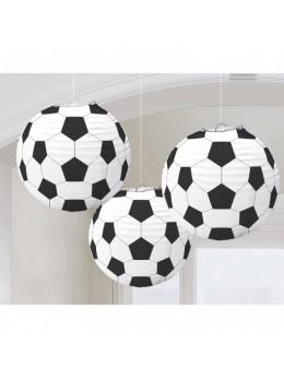 3 lampions ballons football