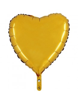 Ballon alu coeur or