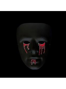 masque noir avec sang