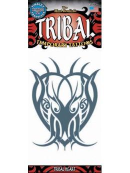 tatouage temporaire coeur tribal