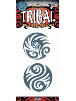tatouage temporaire cercles tribals