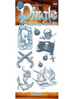planche tatouage temporaire pirate