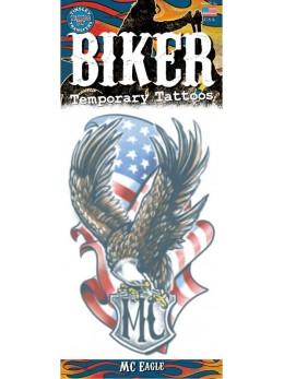 planche tatouage temporaire aigle américain