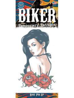 planche tatouage temporaire biker pinup