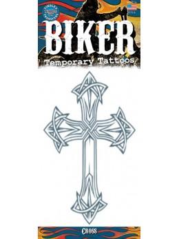 planche tatouage temporaire biker croix