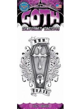 tatouage temporaire gothique dessin cercueuil