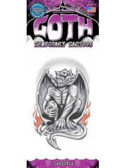 tatouage temporaire gothique gargouille