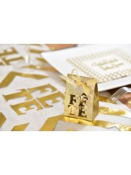 4 Boîtes fête or pailletées