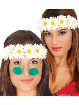 Diadème couronne de fleurs blanches