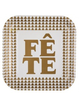 "10 assiettes ""fête"" or"