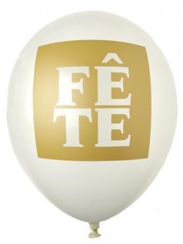 "8 ballons ""fête"" or"