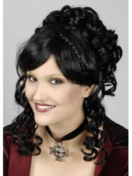 perruque chignon noire