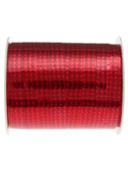 Bolduc hologramme métallisé rouge