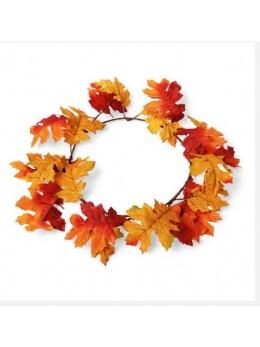 couronne de feuilles d'automne