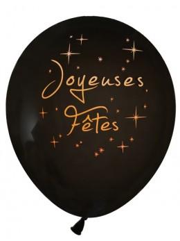 Ballon joyeuses fêtes noir