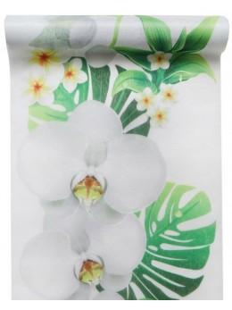 Chemin de table orchidée blanc