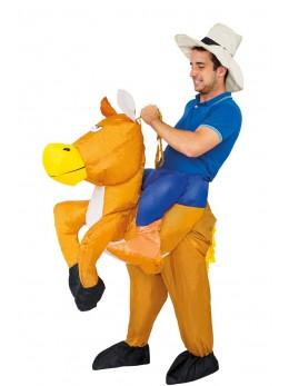 déguisement cowboy sur cheval