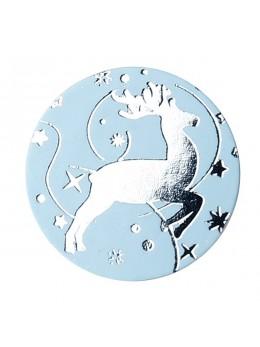 Confetti renne bleu ciel