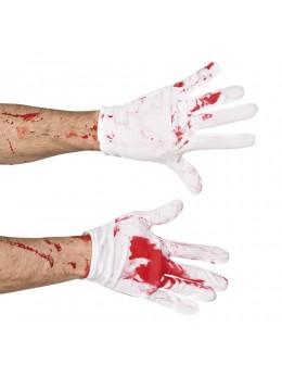 Gants blanc ensanglanté