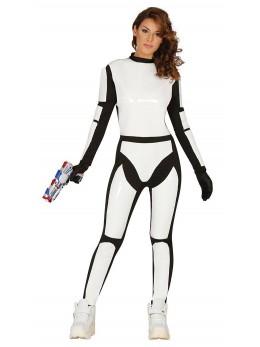 Déguisement futuriste soldat femme