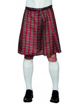 Déguisement kilt écossais tartan rouge