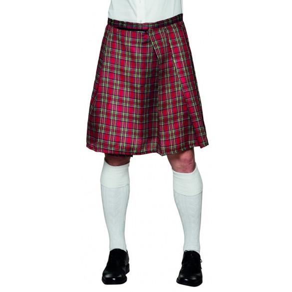 Années 1980 Tartan Punk Bretelles-accessoire robe fantaisie Adulte Écossais Rouge Fantaisie