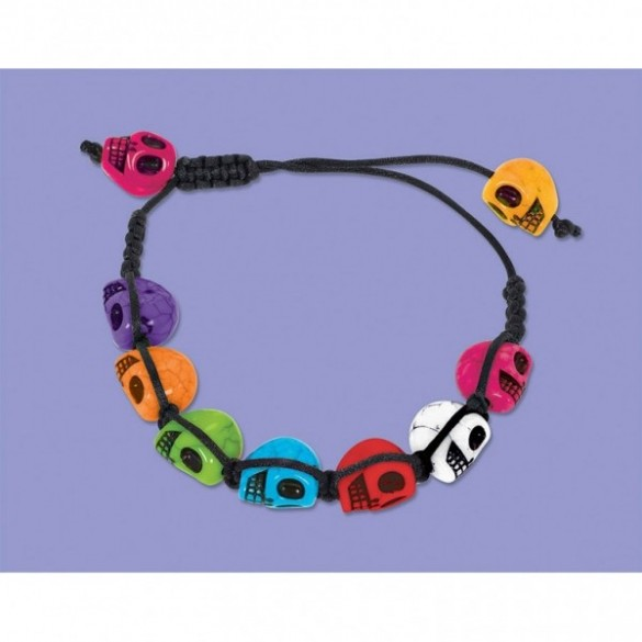 "Bracelet mexicain ""dia de los muertos"""