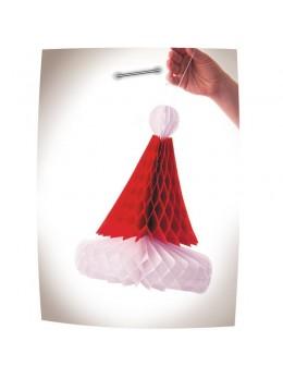 Déco bonnet père Noël en papier