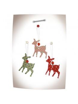 6 décorations faon de Noël à suspendre