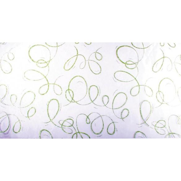 Chemin de table serpentins blanc vert