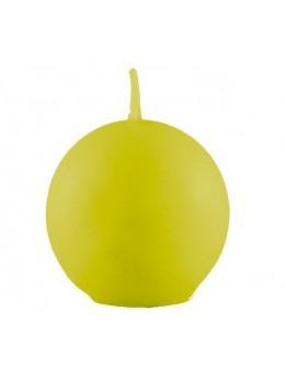 Bougie boule vert lime 7.5cm
