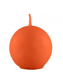 Bougie boule orange 7.5cm
