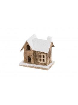 Maison bois naturel avec led