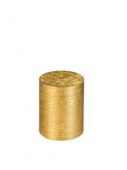 Bougie cylindrique or métallisé