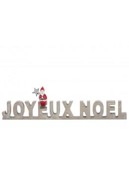 Lettres bois joyeux noël
